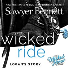Wicked Ride: Wicked Horse,Volume 4 Audiobook by Sawyer Bennett Narrated by Kirsten Leigh, Lee Samuels