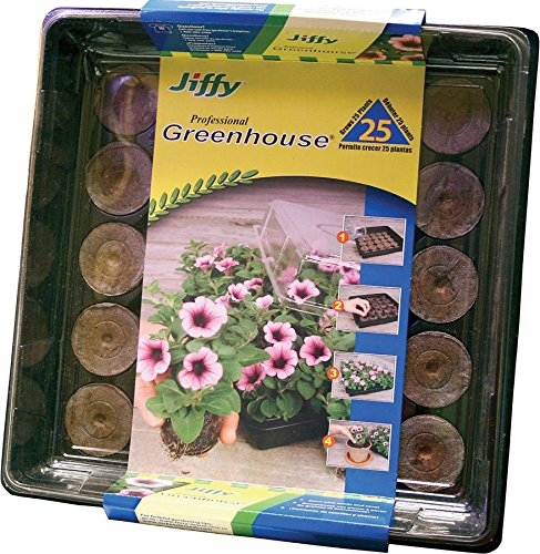 Jiffy 5032 Professional Greenhouse 25-Plant Starter Kit (Peat Pots For Seedlings compare prices)