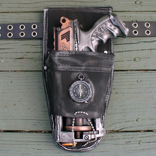 Steampunk gun HOLSTER BELT Victorian Nerf N-Strike Maverick Zombie Fall Out Soft Dart toy
