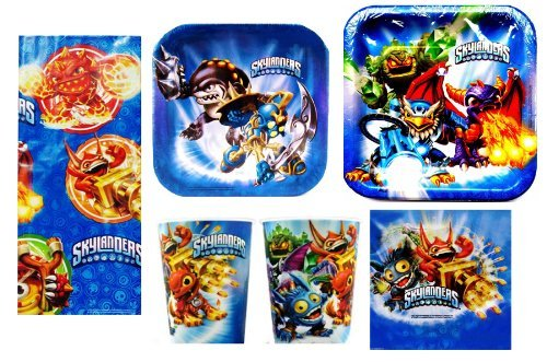 Skylanders Deluxe Party Package for 8 Guests + 16oz Keepsake Plastic Cup by Hallmark