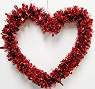 Valentine's Red Heart Garland 12″