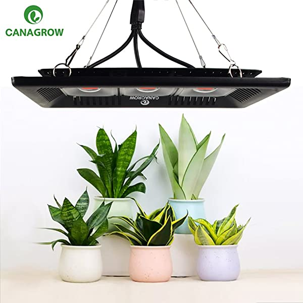 CANAGROW LED Plant Grow Light, Waterproof 300W Full Spectrum