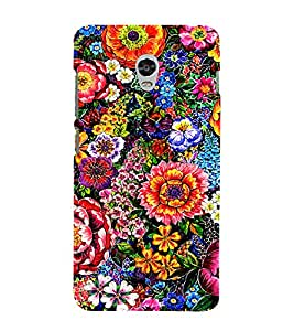 PrintVisa Colorful Flower Pattern 3D Hard Polycarbonate Designer Back Case Cover for Lenovo Vibe P1