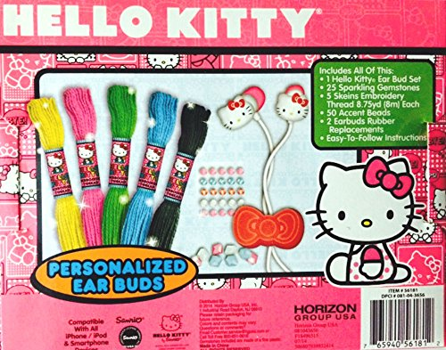 Hello Kitty Personalized Ear Buds Craft Kit