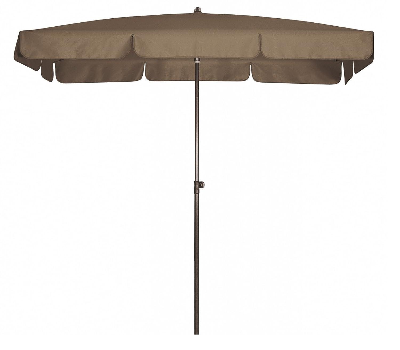 Absolut wasserdichter Gartenschirm Waterproof 185x120 von Doppler mit UV-Schutz 80, Farbe greige