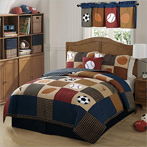 Buy Classic Sports Full/Queen Quilt and 2 Pillow Shams by Pem America