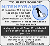 48 Capsules Nitenpyram 11.4 mg For pet between 2 to 25 pounds A single dose kill fleas.