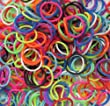 Refill Bands & Clips Mixed Colors (3 Free Charms Included For Solid Colors) (Scented)