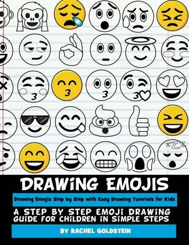 Drawing Emojis Step by Step with Easy Drawing Tutorials for Kids: A Step by Step Emoji Drawing Guide for Children in Simple Steps (Drawing for Kids) (Volume 7) (Kid Drawing Book compare prices)