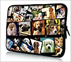 FBA ps10-003 NEW Fashion cute dog 9.7 10 10.1 10.2 inch soft Neoprene Laptop Netbook Tablet Case Sleeve bag cover pouch For iPad 2
