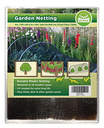 EXTRA STRONG: Garden Netting, Secure Your Produce Against Thieving Pests: Birds, Deer and More. Robust, Tear-Resistant Mesh Creates Wildlife Friendly Barrier (7.5x65ft) That Protects Your Crops Easily (Tomato Netting compare prices)