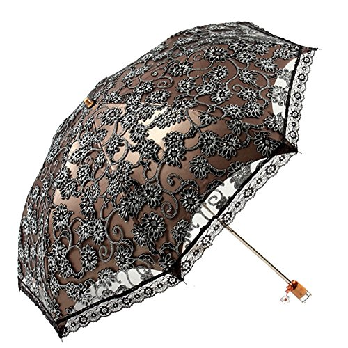 [KROGL KROGL003C2 UV Lace Women Umbrellas] (Traveling Circus Costume)