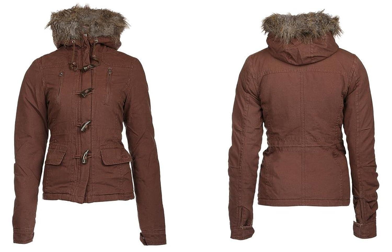 Be Mine warme Winter Mädchenjacke braun mit Reißverschluß und Kapuze online bestellen