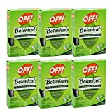 OFF! Botanical Towelettes Plant Based Mosquito Repellent Bug Wipes, 6 pack