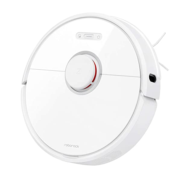 Roborock S6 Robot Vacuum, Robotic Vacuum Cleaner and Mop with Adaptive Routing, Selective Room Cleaning, Super Strong Suction, and Extra Long Battery Life, Works with Alexa(White) (Color: White)