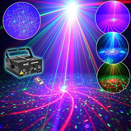 E-electric ビーム ステージ ライト RG+RB+B(LED)三色 ビーム 5シーン80モード 舞台照明 演出 ライト / プロジェクタ ステージライト / ディスコ / 舞台 / 演出 / 照明 / スポットライト(Z80RGRB)