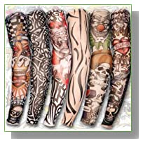6pcs Kit Temporary Fake Slip on Tattoo Arm Sleeves
