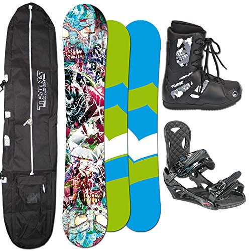 FTWO Snowboard SET T-RIDE 148cm + Eco Bindung Gr. L + Boots + Bag