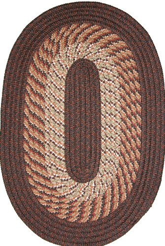 Plymouth 8' x 11' Braided Rug in Chestnut Brown
