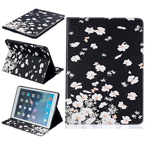 Custodia per iPad Air , Cover per iPad 5, Cozy Hut Colorato La pittura e Elegante Portafoglio Case PU Pelle Flip Protettivo Stand Custodia Cover per Apple iPad Air iPad 5 - gelsomino