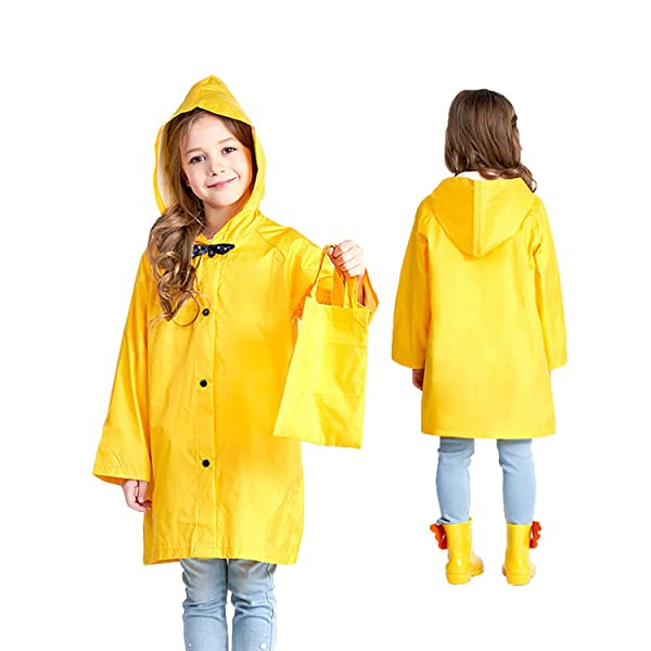 Kids Hoodie Coat Jacket Outwear Outfit Raincoat Lightweight with Bow Clothes Set for Baby Boys Girls