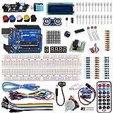 Arduino学習キット 様々なマイコン実験や開発用電子部品キット Arduino UNO R3互換ボード LCDキャラクタディスプレイ LED表示器 マイクロサーボ 傾斜スイッチ 赤外線障害物検知センサーモジュール 距離センサー 等付き(実験... ランキングお取り寄せ
