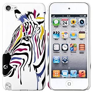 CommonByte Colorful Horses Rear Clip-on Rubber Hard Cover Case For iPod Touch 5 5th 5G Gen