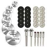 Cutting Discs for Dremel Rotary Tool, Diamond Metal Wood Cutting Wheels for Dremel, HSS Circular Saw Blades 6pcs with 1/8