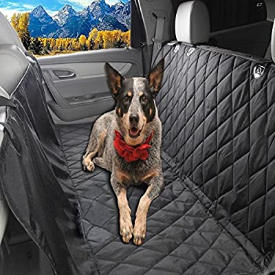 Glyby Dog Car Seat Cover - Car Backing Seat Cover for Pet- Quilted Waterproof Non Slip Hammock Convertible ...