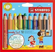 Comprar Stabilo Woody - Lápices de colores (10 unidades), multicolor