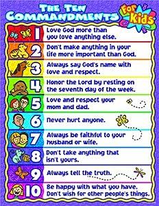 Amazon.com: Carson Dellosa Christian The Ten Commandments for Kids ...
