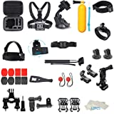 certainPL 41-in-1 Accessories Kit for GoPro Hero 7/6 / 5/4 / 3 Bundle Camera Outdoor Sports Set (Color: Multicolor, Tamaño: 41-in-1)