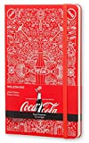 Moleskine Coca-Cola Limited Edition Notebook, Large, Ruled, Scarlet Red, Hard Cover (5 x 8.25)
