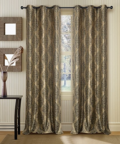 Deco Window Curtain Ganga Beige 7.5 ft Door with white lining