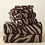 Luxury Bath Towels Set Will Update Your Bathroom. The Towel Set Is Soft, Cotton, Extra Absorbent High Quality. The Zebra Pattern Towels Are Very Stylish. By Placing This Unique Set to Your Bathroom You Will Make an Eye-catching Decoration