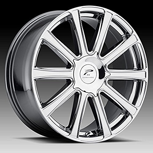 Platinum Divine 20 PVD Chrome Wheel / Rim 6x135 & 6x5.5 with a 25mm Offset and a 106.1 Hub Bore. Partnumber 410-2935V+25 (2013 F150 Platinum compare prices)