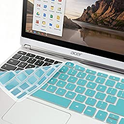 GMYLE Turquoise blue Silicon Keyboard Cover for Acer 11.6\