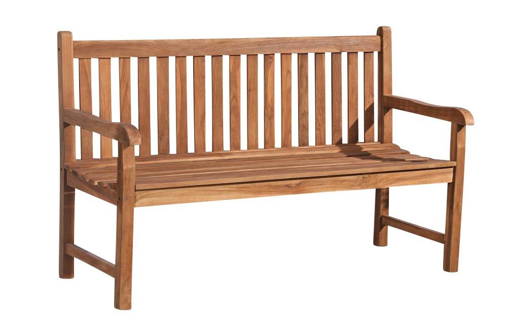 CLP wetterfeste Gartenbank CALYPSO V2 aus massivem Teakholz (aus bis zu 5 Größen wählen) 180×50 cm günstig bestellen
