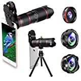 Phone Camera Lens, Best Keiyi 15X iPhone Camera Telephoto Lens kit Double Regulation Lens Attachment with Tripod and Universal Clip Compatible with iPhone X/XS/XS Max/XR/8/7 Plus Samsung Android Phone (Tamaño: 15X Zoom Telephoto Lens Kit)