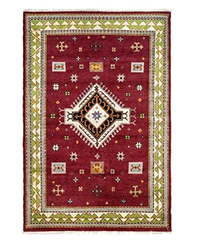 Darya Rugs Kazak Oriental Rug, Red, 6′ 8″ x 10′ 1″