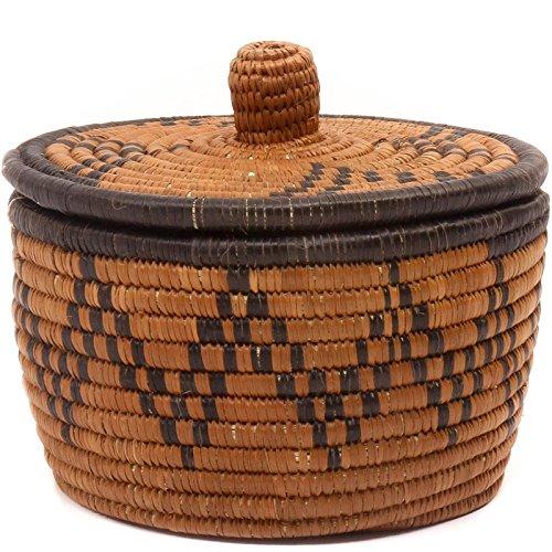 Fair Trade Zulu Ilala Palm Ukhamba Canister, #49732