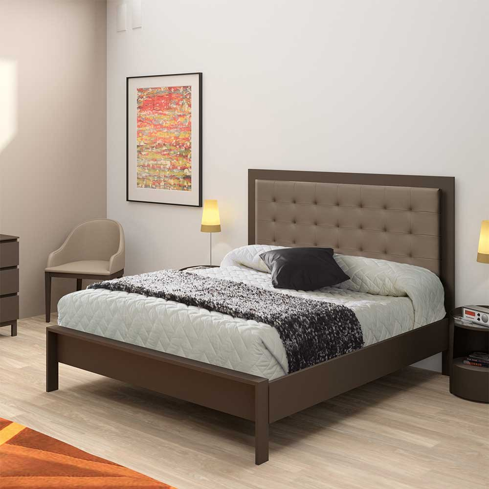 Bett aus Metall mit Polsterkopfteil Breite 151 cm Liegefläche 140×200 Pharao24 günstig kaufen