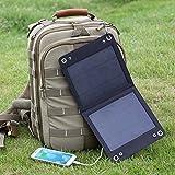 Levin™ Voyageur Pliable Chargeur Solaire Portable pour iPhone, iPod, La Série Samsung Galaxy Téléphones et autres Téléphones Android, Les Téléphones Windows, Oreillette Bluetooth, et Plusieurs autres Appareils...