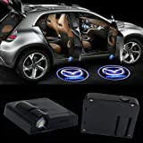 LED Car Door Logo Light For Mazda Ghost Shadow Courtesy Laser Projector Welcome Lamp,2Pcs Wireless Universal Door Logo Ghost Projector