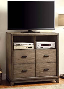 4-Drawer TV Stand in Natural Ash Finish