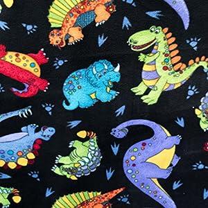 Fleece print baby dinosaur friends 58 inch for Baby dinosaur fabric