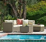 5pcs Outdoor Patio Wicker sectional Sofa Set