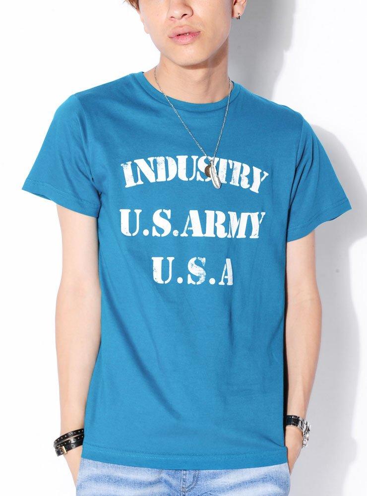 (ベストマート)BestMart アメカジ カレッジ ロゴ風 プリント Tシャツ メンズ 619006