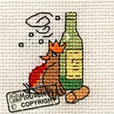 Mouseloft Mini Cross Stitch Card Kit - Merry Robin, Christmas Collection