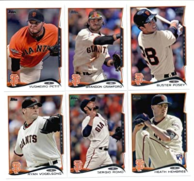 2012 & 2014 Topps San Francisco Giants WORLD SERIES CHAMPIONS TEAM SETS (Both Years)